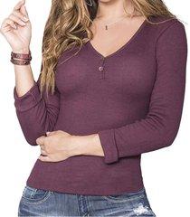 blusa kendall morado para mujer croydon