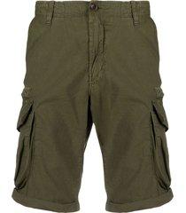 myths multi-pocket cargo shorts - green