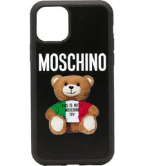 moschino teddy bear print iphone 11 pro case - black