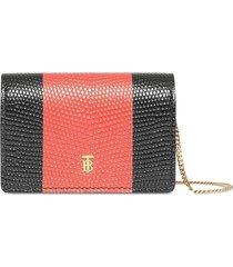 burberry detachable strap card case - black