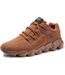sneakers casual con lacci antiscivolo in pelle scamosciata artificiale uomo