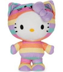 "gund sanrio hello kitty rainbow outfit plush stuffed animal, 9.5"""