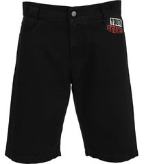 raf simons denim workwear shorts