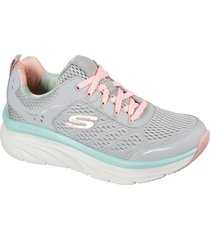 tenis lifestyle skechers relaxed fit d'lux walter - gris-rosa