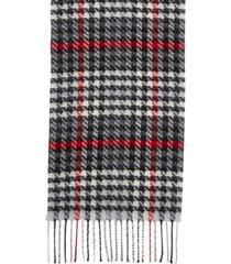 steve madden modern houndstooth italian muffler scarf