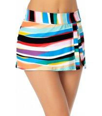 anne cole striped swim skirt women's swimsuit