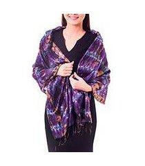 silk shawl, 'orchid mystique' (thailand)