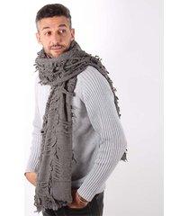 bufanda gris spiga 31 rustico