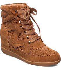 stb-emmy lace s snörade skor låga brun shoe the bear