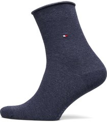 th women 98% cotton sock 1p lingerie socks regular socks blå tommy hilfiger