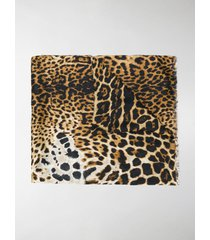 saint laurent leopard scarf