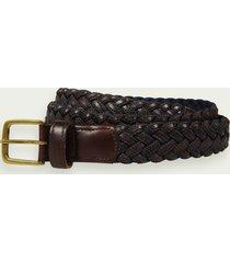 scotch & soda braided leather-cord belt