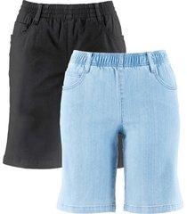 shorts elasticizzati (pacco da 2) (nero) - bpc bonprix collection