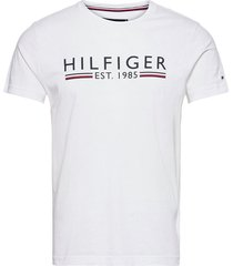 hilfiger 1985 tee t-shirts short-sleeved vit tommy hilfiger