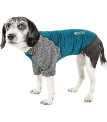 pet life active 'hybreed' two toned performance dog t-shirt