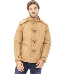 chaqueta capucha marron corona