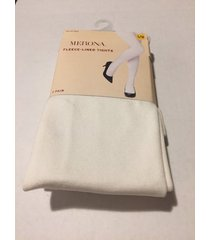 merona womens fleece- lined tights, s/m, ivory