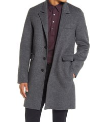 men's vince men's glen plaid wool blend car coat, size xx-large - grey