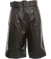 self-portrait shorts faux leather w/belt