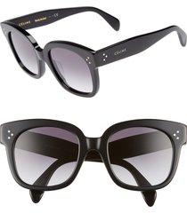 celine 54mm square sunglasses in black/smoke at nordstrom