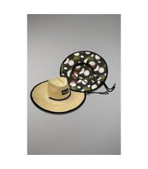 chapéu kouk authentic de palha coco