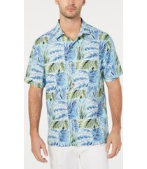 tommy bahama men's big & tall think outside the fronds hawaiian shirt
