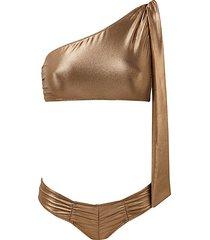 arden metallic asymmetrical bikini
