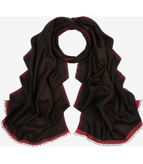 silk and cashmere scarf black 1