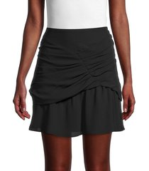 iro women's lussac ruffled skirt - black - size 34 (2)