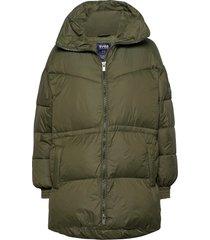 generous hip length jacket gevoerd jack groen svea