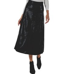 falda ecocuero negro guinda