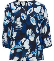 blouse zonder sluiting van 100% zijde van uta raasch multicolour