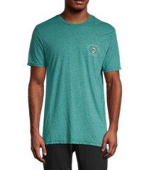 rip curl men's mr skellington heathered t-shirt - blue - size s