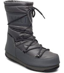 mb mid nylon wp shoes boots ankle boots ankle boot - flat grå moon boot