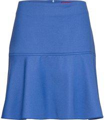 relea kort kjol blå hugo