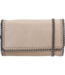 stella mccartney falabella shoulder bag in beige faux leather
