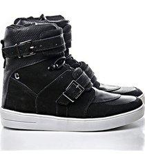 tênis sneaker rock fit couro nobuck