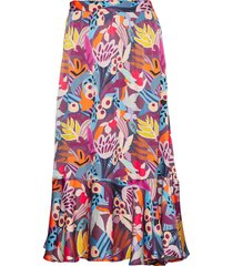 freja knälång kjol multimönstrad custommade