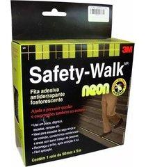 fita antiderrapante 3m fosforescente neon safety-walk, 50 mm x 5 metros - h0002224485