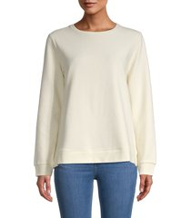 eileen fisher women's ribbed sweatshirt - undyed natural - size l