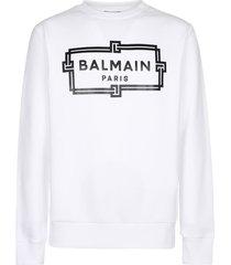 balmain printed sweatshirt