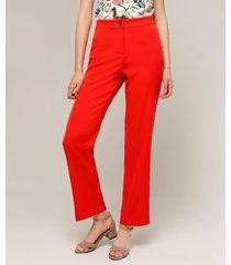 pantalón clásico unicolor mujer color rojo rojo 12