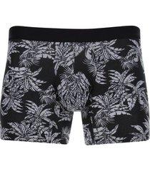 boxer plantas color negro, talla l