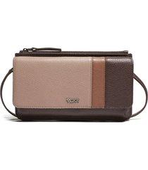 tumi belden leather wallet crossbody bag in dusk spectator at nordstrom