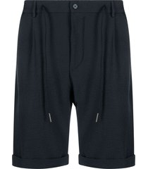 tagliatore b-donny textured bermuda shorts - blue