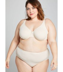 lane bryant women's cotton high-leg brief panty 22/24 beige