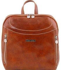 tuscany leather tl141557 manila - zaino in pelle miele