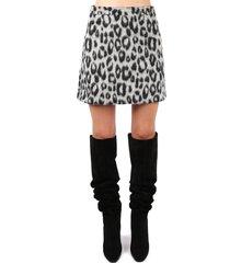 andamane mini skirt with animalier print