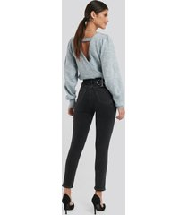calvin klein 010 high rise skinny ankle jeans - black