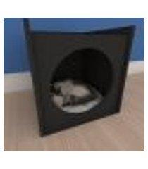 mesa de cabeceira caminha minimalista pequeno gato em mdf preto